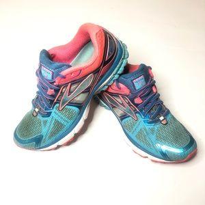 Brooks Ravenna 6 Womens Sz 8 Blue Pink Sneakers